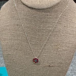 Tiffany & Co. Red Enamel Crown Of Hearts Necklace